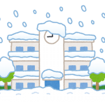 雪のマンション